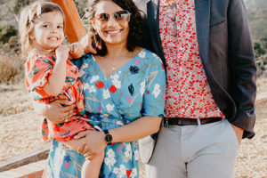 Chandani Patel with husband Brady and daughter Aashna. Patel takes over as director of Diversity Equity and Inclusion at Rowland Hall July 1, 2021. Photo rowlandhall.org