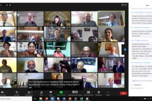 Zoom meeting held recently to launch the endowed chair for Study of Jainism at University of Illinois. Photo: Illinois.edu newsletter